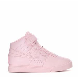 Pink high top filas